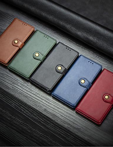 Capinha Para Samsung Galaxy S9 / S9 Plus / S8 Plus Carteira / Porta-Cartão / Com Suporte Capa Proteção Completa Sólido Rígida PU Leather
