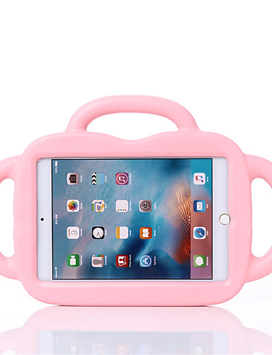 Capinha Para Apple iPad Mini 5 / iPad Mini 3/2/1 / iPad Mini 4 Antichoque / Segura Para Crianças Capa traseira Sólido / Animal / Desenhos 3D EVA