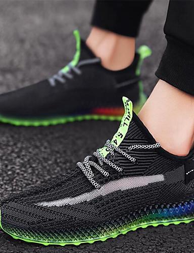 preiswerte Neon-Herrn Komfort Schuhe Tissage Volant Frühling Sommer Sportschuhe Rennen / Walking Einfarbig Schwarz / grün / Orange / Gelb