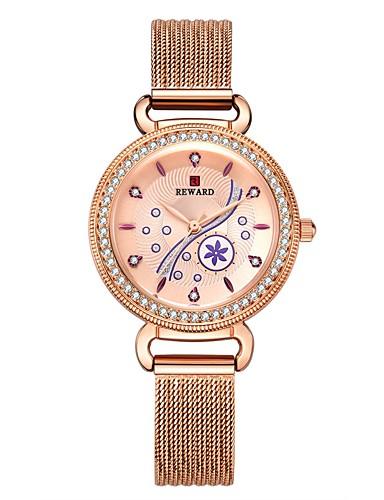Mulheres Relógios de Quartzo Fashion Preta Azul Dourada Aço Inoxidável Japanês Quartzo Japonês Preto Rosa Dourado Dourado Impermeável 30 m Analógico Dois anos Ciclo de Vida da Bateria