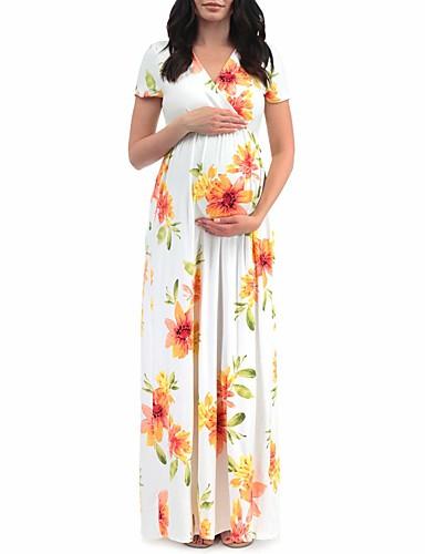 Γυναικεία Κομψό Αμπάγια Φόρεμα - Φλοράλ, Patchwork Στάμπα Wrap Μακρύ