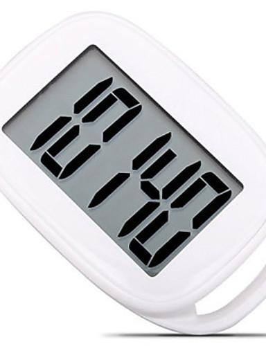 preiswerte Laufsport elektronische Geräte-AU-878 Elektronischer Schrittzähler Andere OS Outdoor / Telefonriemen / Schrittzähler Schwerkraft-Sensor PP+ABS / Neopren Rein Weiß