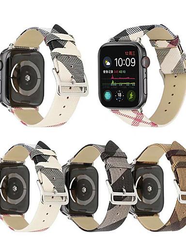 Klokkerem til Apple Watch Series 4/3/2/1 Apple Moderne spenne Ekte lær Håndleddsrem