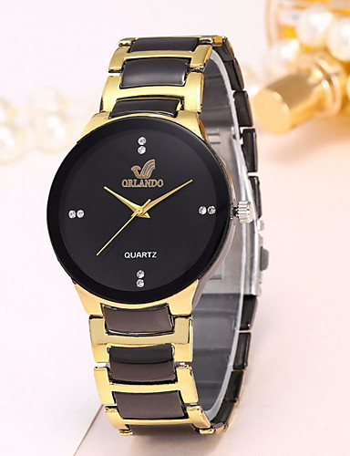 Homens Relógio Elegante Quartzo Relógio Casual Analógico Clássico - Preto