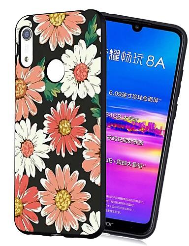 Capinha Para Huawei Huawei Nova 3i / Y7 Prime (2018) / Huawei Y7 2019 Antichoque / Áspero / Estampada Capa traseira Flor TPU