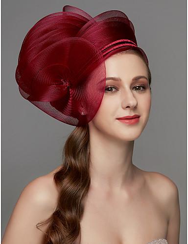 preiswerte Party Zubehör-Netz Fascinatoren / Kopfschmuck / Kopfbedeckung mit Feder / Blume / Randverzierung 1 Stück Hochzeit / Besondere Anlässe Kopfschmuck