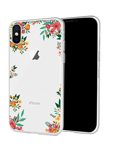 Etui Til Apple iPhone XR / iPhone XS Max / iPhone X Mønster Bakdeksel Blomsternål i krystall Myk TPU