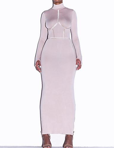Γυναικεία Θήκη Φόρεμα - Μονόχρωμο, Patchwork Μακρύ