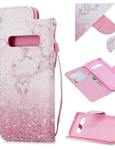 Capinha Para Samsung Galaxy S9 / S9 Plus / S8 Plus Carteira / Porta-Cartão / Antichoque Capa Proteção Completa Mármore PU Leather