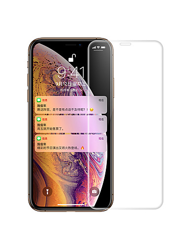 skjermbeskytter for Apple iPhone x / iphone xs / iphone xr herdet glass 1 stk frontskjermbeskytter 9h hardhet / 2,5d buet kant