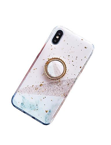 caso para apple iphone xs max / iphone 8 além de poeira / anel titular / imd tampa traseira mármore / coração macio tpu para iphone 7/7 plus / 8/6/6 plus / xr / x / xs