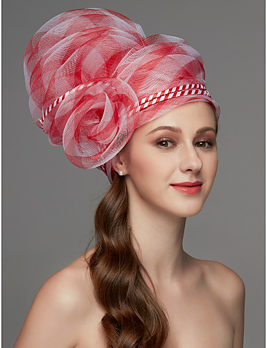 preiswerte Parykopfbedeckungen-Netz Fascinatoren / Kopfschmuck / Kopfbedeckung mit Feder / Blume / Randverzierung 1 Stück Hochzeit / Besondere Anlässe Kopfschmuck