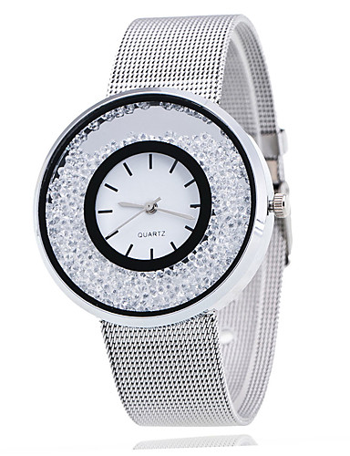 mulher menina moda liga relógio movimento eletrônico casual relógio de pulso com strass em movimento