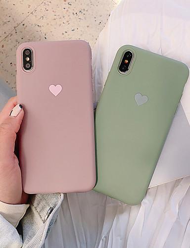 Capinha Para Apple iPhone XS / iPhone XR / iPhone XS Max Antichoque / Áspero Capa traseira Sólido / Coração Macia TPU