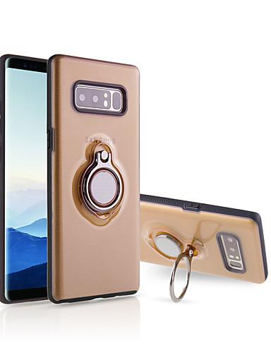 Capinha Para Samsung Galaxy Note 8 Suporte para Alianças / Ultra-Fina / Translúcido Capa traseira Sólido silica Gel