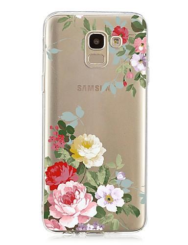 Capinha Para Samsung Galaxy J7 (2017) / J6 (2018) / J5 (2017) Antichoque / Transparente / Estampada Capa traseira Flor TPU