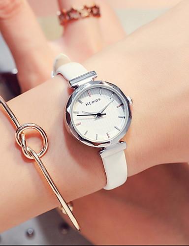 Mulheres Bracele Relógio Quartzo Couro 100 m Adorável Analógico Vintage Minimalista - Preto Branco Azul