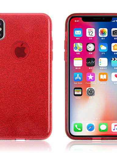 Etui Til Apple iPhone XS / iPhone XR / iPhone XS Max Glitter Bakdeksel Ensfarget Myk TPU