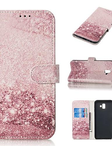 tok Για Samsung Galaxy J7 (2016) / J7 / J5 (2017) Πορτοφόλι / Θήκη καρτών / με βάση στήριξης Πλήρης Θήκη Μάρμαρο Σκληρή PU δέρμα