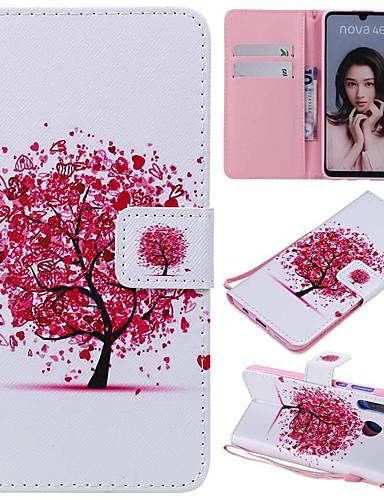 tok Για Huawei Huawei P20 / Huawei P20 Pro / Huawei P20 lite Πορτοφόλι / Θήκη καρτών / Ανθεκτική σε πτώσεις Πλήρης Θήκη Δέντρο Σκληρή PU δέρμα