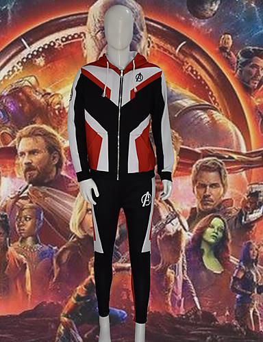 preiswerte Videospiele Cosplay-Inspiriert von Cosplay Superheld Video Spiel Cosplay Kostüme Cosplay Kostüme Einfarbig Langarm Hosen Kapuzenshirt Kostüme