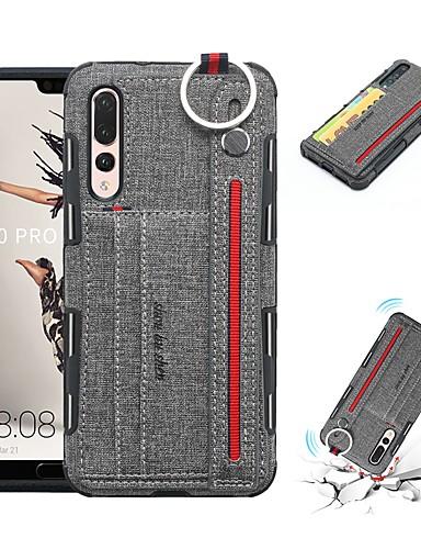 tok Για Huawei Huawei P20 Pro / Huawei Honor 10 / Mate 10 lite Θήκη καρτών / Ανθεκτική σε πτώσεις Πίσω Κάλυμμα Μονόχρωμο Μαλακή PU δέρμα