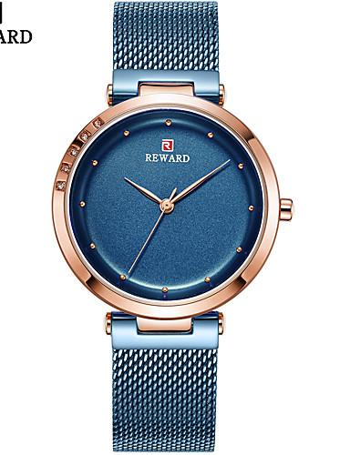 Mulheres Relógios de Quartzo Casual Fashion Preta Azul Prata Aço Inoxidável Chinês Quartzo Preto Roxo Dourado Criativo Relógio Casual 1 Pça. Analógico