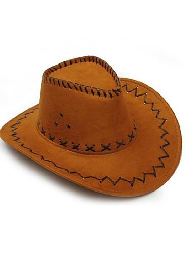 Γιούνισεξ Μονόχρωμο Δεκαετία ΄30 Δέρμα Ρεπούμπλικα Καπέλο ηλίου Όλες οι εποχές Καφέ Μαύρο Κίτρινο