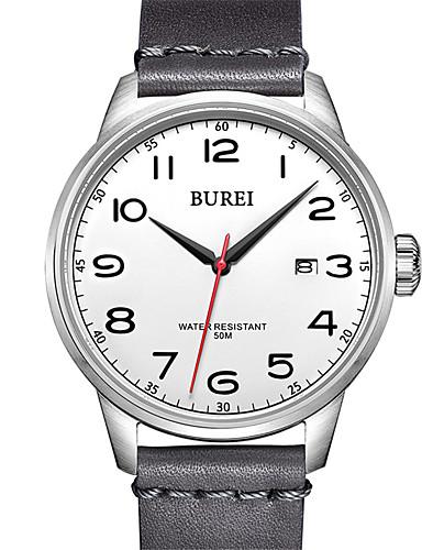 Homens Relógio Elegante Quartzo Couro 30 m Impermeável Relógio Casual Analógico Casual Fashion - Branco Um ano Ciclo de Vida da Bateria / Aço Inoxidável