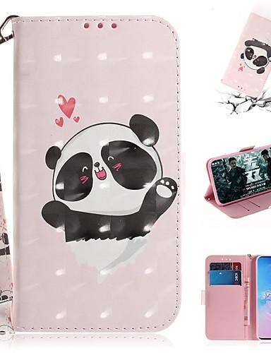 Capinha Para Samsung Galaxy S9 / S9 Plus / S8 Plus Carteira / Porta-Cartão / Antichoque Capa Proteção Completa Panda PU Leather