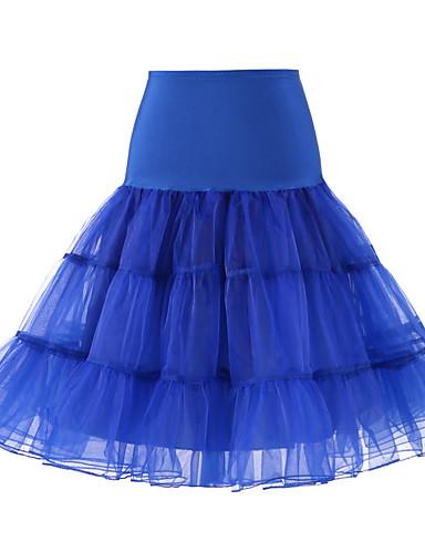 preiswerte Unterröcke für Hochzeitskleider-Hochzeit / Hochzeitsfeier Unterhosen Polyester / Tüll Knielänge Einheitliche Farbe / Balletröckchen und Röcke mit
