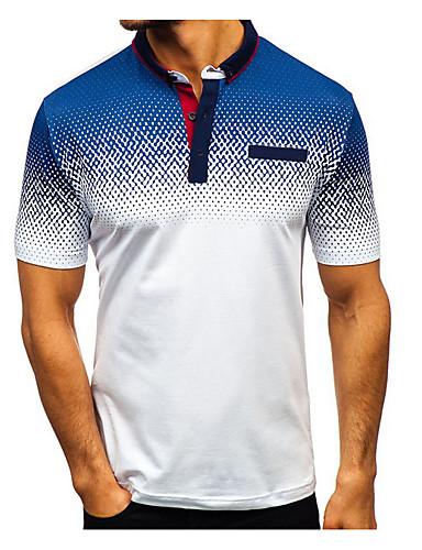 Ανδρικά T-shirt Συνδυασμός Χρωμάτων Στρογγυλή Λαιμόκοψη Μαύρο / Κοντομάνικο