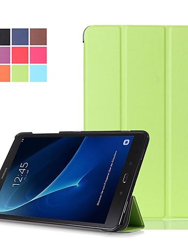 Etui Til Samsung Galaxy Tab A 10.1 (2016) Støtsikker / Støvtett / Auto Sove / Våkne Heldekkende etui Ensfarget Hard PU Leather
