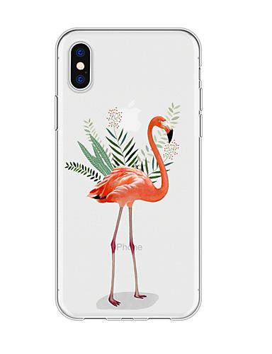 Caso para iphone x xs max xr xs voltar caso capa mole tpu simples flamingo macio tpu para iphone5 5s se 6 6 p 6 s sp 7 7 p 8 8p16 * 8 * 1