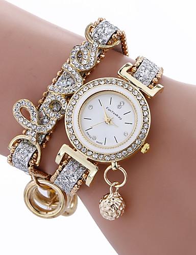 moda mulheres meninas metal caso couro strass pulseira quartzo elegante relógio de pulso