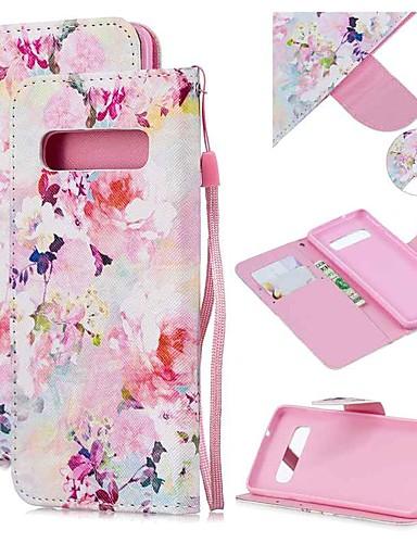 Capinha Para Samsung Galaxy S9 / S9 Plus / S8 Plus Carteira / Porta-Cartão / Antichoque Capa Proteção Completa Flor PU Leather