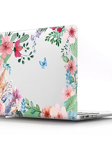 gjennomsiktig blomst pvc hardt deksel skall til Macbook Pro Air Retina telefonveske 11/12/13/15 (a1278-a1989)