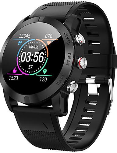Relógio inteligente Digital Estilo Moderno Esportivo Silicone 30 m Impermeável Monitor de Batimento Cardíaco Bluetooth Digital Casual Ao ar Livre - Preto Prata