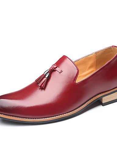 billige Shoes & Bags Must-have-Herre Formell Sko Fuskelær Høst vinter Forretning / Klassisk En pedal Skli Gradient Svart / Gul / Rød / Dusk / Fest / aften / Dusk / Fest / aften / Kontor og karriere