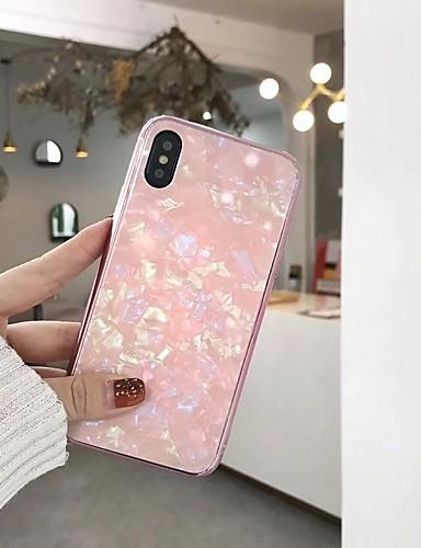 Etui Til Apple iPhone X / iPhone 8 Plus / iPhone 8 Belegg / Speil Bakdeksel Geometrisk mønster Hard Herdet glass