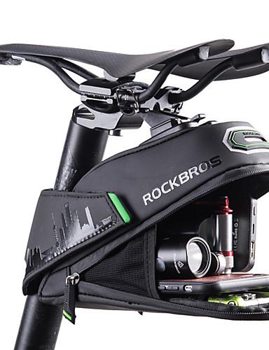 povoljno Biciklizam-ROCKBROS 1/1.5 L Bike Saddle Bag Zamišljen Velika zapremnina Rainproof Torba za bicikl Polyster PU Torba za bicikl Torbe za biciklizam Cestovni bicikl Mountain Bike / Vodootporni patent