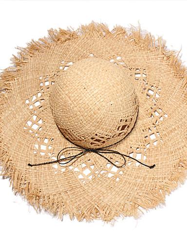 Άχυρο Καπέλα με Μονόχρωμο 1 Τεμάχιο Causal / Καθημερινά Ρούχα Headpiece