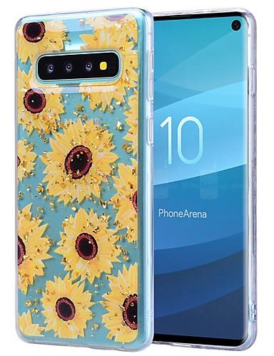 Etui Til Samsung Galaxy S9 / S9 Plus / Galaxy S10 Støtsikker / Gjennomsiktig / Mønster Bakdeksel Sommerfugl / Hodeskaller / Blomsternål i krystall Myk TPU