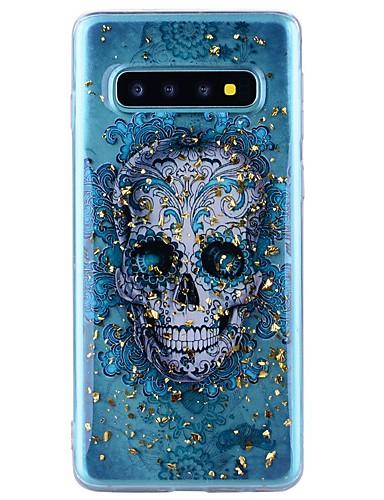 tok Για Samsung Galaxy Note 9 / Note 8 Ανθεκτική σε πτώσεις / Διαφανής / Με σχέδια Πίσω Κάλυμμα Νεκροκεφαλές Μαλακή TPU