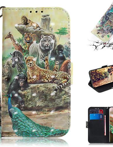 Capinha Para Samsung Galaxy Note 10.1 Carteira / Porta-Cartão / Com Suporte Capa Proteção Completa Animal / Desenhos 3D PU Leather