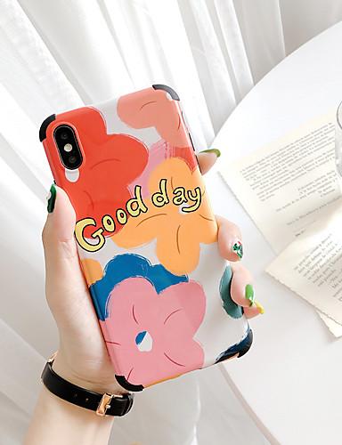 Capinha Para Apple iPhone XS / iPhone XR / iPhone XS Max Anti-poeira / Estampada Capa traseira Desenho Animado / Flor Macia TPU