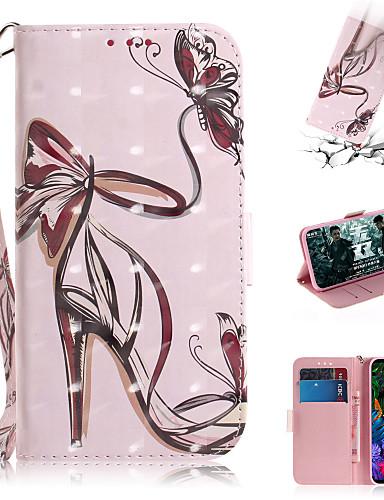 Capinha Para LG LG V40 / LG G8 Carteira / Porta-Cartão / Com Suporte Capa Proteção Completa Mulher Sensual PU Leather