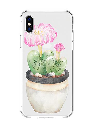 Capinha Para Apple iPhone XS / iPhone XR / iPhone XS Max Impermeável / Estampada Capa traseira Árvore / Flor TPU