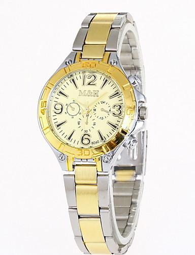 Mulheres Relógio Elegante Quartzo Relógio Casual Analógico Clássico - Preto Branco Dourado