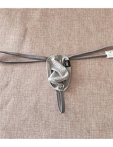 levne Pánské prádlo a plavky-Pánské Síťka Spodní prádlo G-string Nylon Nízký pas